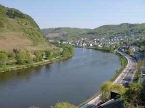 Aussicht vom Aufstieg zur Reichsburg Cochem