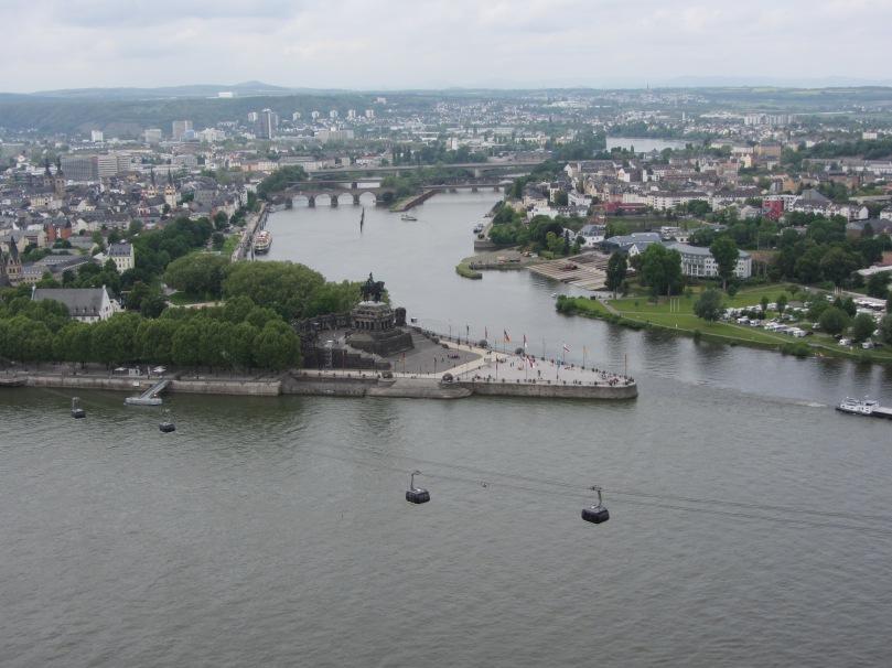 Deutsches Eck und das Kaiser-Wilhelm-Denkmal