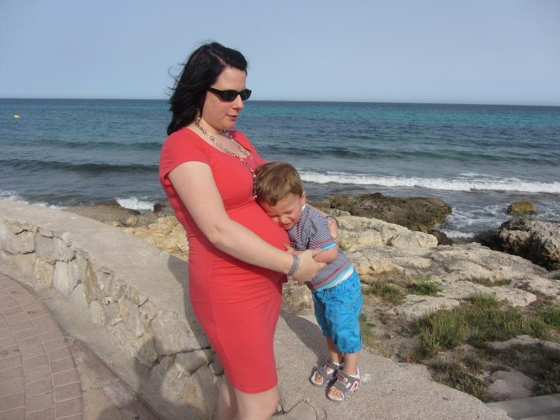 Kuscheln mit dem Baby