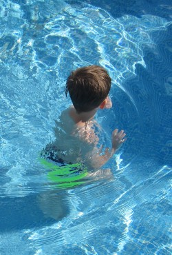Wildfang hingegen liebte es schon immer im Wasser zu sein.