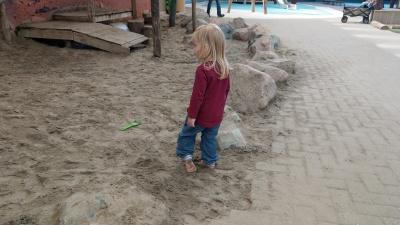 ...sogar mit Sandkasten
