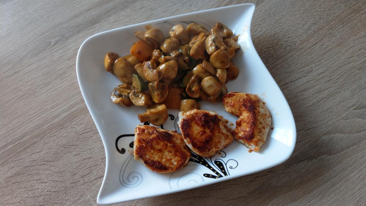Köstliche Champignonpfanne
